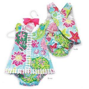 NWOT! Baby Girl Pinafore & Bloomer Set